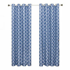 Periwinkle Room DarkenigThermal Insulated Grommet Meridian Window Curtain Panels
