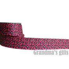 "1""25mm Leopard Printed grosgrain ribbon 5/50/100 yards hairbow Wholesale"