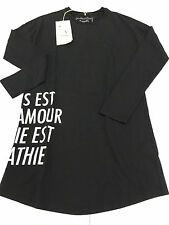 EMPATHIE Maxi t-shirt black 100 % cotone MADE IN ITALY