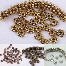 Wholesale Tibetan Silver Daisy Flower Spacer Beads Jewelry Findings DIY 4/6mm