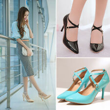 Sexy Women Stiletto Heel Pointy Toe Pump Shoes OL Lady T Strappy Party Shoes New