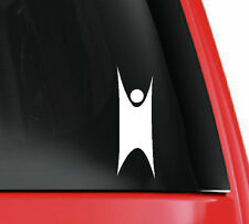 The Happy Humanist (larger size) cut vinyl window sticker atheist atheism