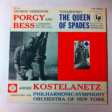 Gershwin Tchaikovsky Porgy and Bess The Queen of Spades Philharmonic Symphony LP