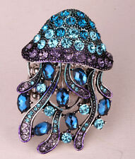 Jellyfish stretch ring bling animal scarf jewelry gifts for women girls 1