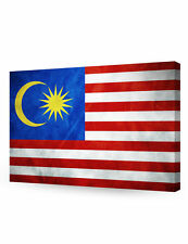 DecorArts-Malaysia Flag Giclee Canvas Prints for Home Wall Decor