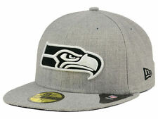 Official Seattle Seahawks New Era 59FIFTY Hat NFL Heather Black White
