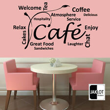 CAFE COFFEE TEA BISTRO FOOD - COLLAGE WORDS - Vinyl Cut Wall Art Decal Sticker