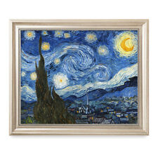 DecorArts Starry Night,Van Gogh,Classic Oil Painting Artwork  Framed 20X16