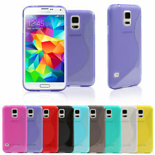 For Samsung Galaxy S5 SV I9600 9 Colors S-Line Slim Soft GEL TPU Case Cover Skin