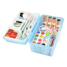 Multi Plastic Empty 3 Layer Storage Case Box Nail Art Craft Makeup Tools Collect