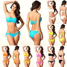 Popular Sexy Tied Rope Women's Sexy Push-up Bra Separates Swimsuit Bikini Suit