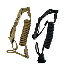 Heavy Duty Tactical Pistol Lanyard Airsoft Quick Release Secure Pistol Sling Ops