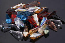 10pcs 20mm Faceted Crystal Point Teardrop Charms Pendant Jewelry Making Findings