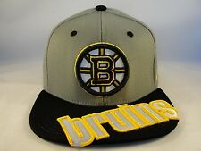NHL Boston Bruins Zephyr Stretch Flex Hat Cap Cross Cut