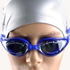 Fashion Unisex UV Shield Anti-Fog Summer Swimming Swim Goggles Adjustable Strip