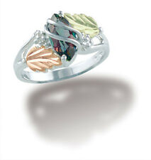 Black Hills Gold ring womens mystic fire topaz silver whole/half sizes 5 6 7 8 9