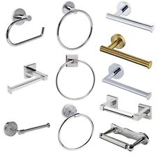 Brand New Polished Chrome Bathroom Accessories Set, Fittings Included