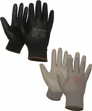 Quality PU Palm Coated Gloves Lightweight Precision Engineering Assembly Garden