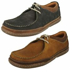 MENS CLARKS TRAPELL PACE LACE UP NUBUCK LEATHER CASUAL G FIT EVERYDAY SHOES