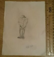 Original signed drawing. L S Lowry? ***READ DISCRIPTION***