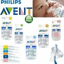 Avent Baby Classic Anti-Colic Infant Milk Bottle Silicone Teats 2 Pack