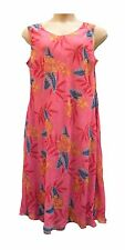 Tommy and Kate Coral Reversible Floral Print Floaty Calf Length Dress Sizes