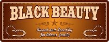 Country Star Horse Stall Sign with Custom Name, Western Font & Horseshoes C1336