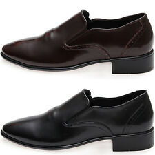 New Mooda Classic Modern Plain Toe Leather Casual Formal Men Dress Loafers Shoes