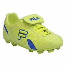 Fila FORZA III RB Youth Boys Neon Green Blue Laced Outdoor Soccer Cleats