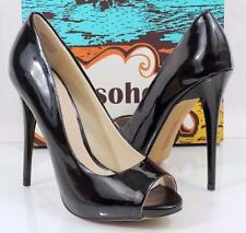 Women's Shoes Zigi Soho BANEN Open Toe Pumps Heels Black Patent