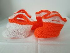 Baby Boys/Girls Hand Knit cowboy boot  Booties *CUTE* cool colour 0-3/3-6 month