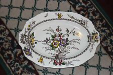 "Vintage Alfred Meakin Medway Decor Large Serving Platter-18 & 1/2"" Long-England"