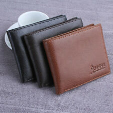 New Mens PU Leather Bifold Wallet Business ID Credit Card Holder Slim Coin Purse
