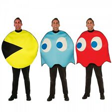 Pac-Man Costume Adult Funny 80s Halloween Fancy Dress