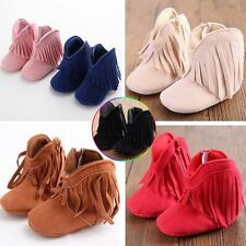 Most popular Newborn Baby boy gril Winter Shoes Toddler Soft Sole tassel boots