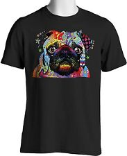 Pug T Shirt Neon Cute Puppy Dog Big Eyes Small to 6XL Big Tall - Free Shipping