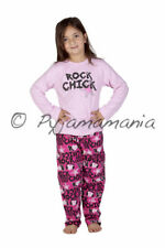 Pyjamas Girls Winter Cotton Flannel (Sz 5) Pjs Set Pink Rock Chick Sz 3 4 5 6 7