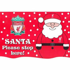 Liverpool Santa Please Stop Here Poster -Christmas Window Decoration 21cm x 30cm