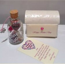 PERSONALISED MOTHERS MUMMY MOTHER'S DAY MESSAGE IN A BOTTLE CARD GIFT PRESENT