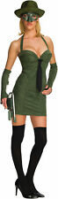 Sexy Green Hornet Adult Womens Ladies Superhero Costume Fancy Dress Up,