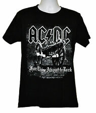 AC DC For Those about to Rock T-shirt Rock Band Graphic Tee Black Preshrunk NWT