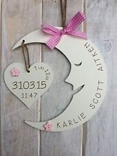Unique Personalised Baby Birth Plaque Sign Gift Baby Name & Birth Details Sign