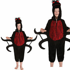 Childrens Venomous Spider Fancy Dress Costume Halloween Arachnid Outfit 4-12 Yrs