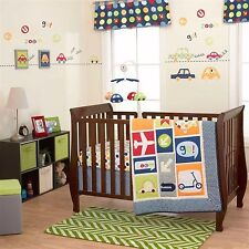 Boys World Baby Bedding Crib Cot Quilt Bumpers Sheet Wall Decal Arts --US Brand