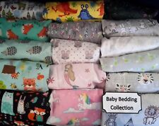 BABY SHEET Set 100% Cotton NEW Fitted Infant Crib BASSINET Flannel Cot Cradle