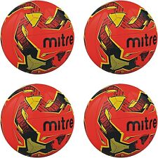 4 x MITRE MALMO FOOTBALLS - ASTRO/GRASS - ORANGE - Sizes 3, 4 and 5