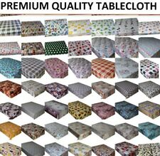 PVC OILCLOTH VINYL WIPEABLE TABLECLOTH WIPE CLEAN TABLE COVER PROTECTOR