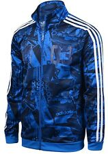 ADIDAS 3 FOIL Street Track top Jacket S06989 Zip up XS,S,M,L,XL Navy Graphic