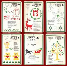 STENCIL EASE Choice of HOLIDAY COLLECTION Vintage NOS CHRISTMAS CHALK INK PAINT