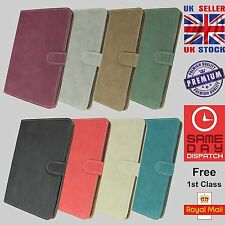 """Luxury Wallet Suede Leather Case Cover For Samsung Galaxy Tab 3 7"""" inch 8"""" inch"""